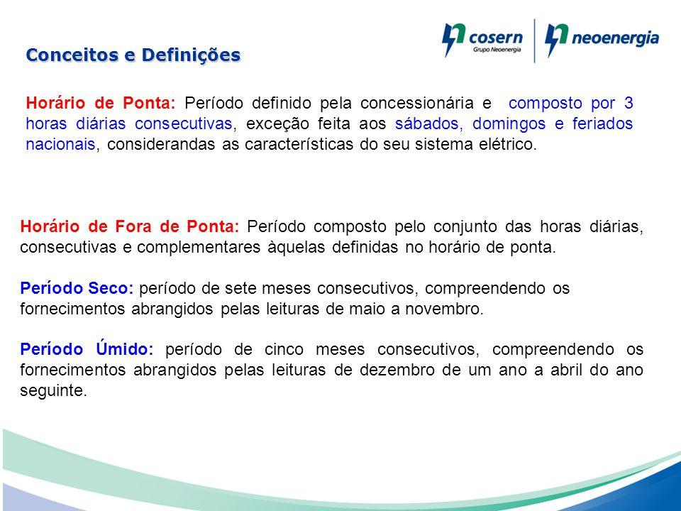 Horário de Ponta: Período definido pela concessionária e composto por 3 horas diárias consecutivas, exceção feita aos sábados, domingos e feriados nac