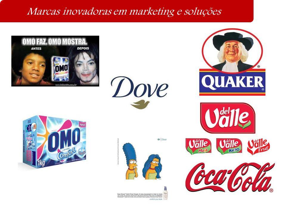 Marcas inovadoras em marketing e soluções