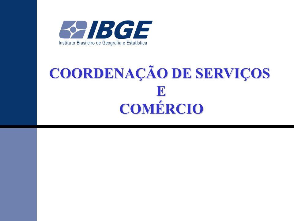 •Pesquisa estrutural implantada em 2000, visando a construção de uma classificação nacional de produtos para o Setor Serviços, padronizada e com comparabilidade internacional.