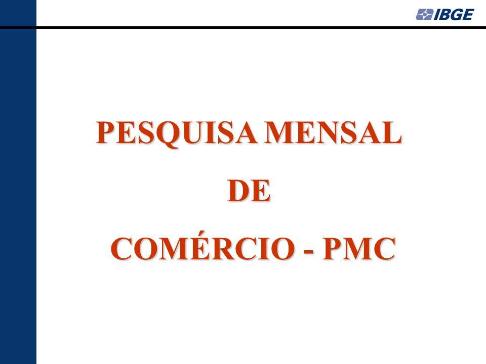 PESQUISA MENSAL DE COMÉRCIO - PMC COMÉRCIO - PMC