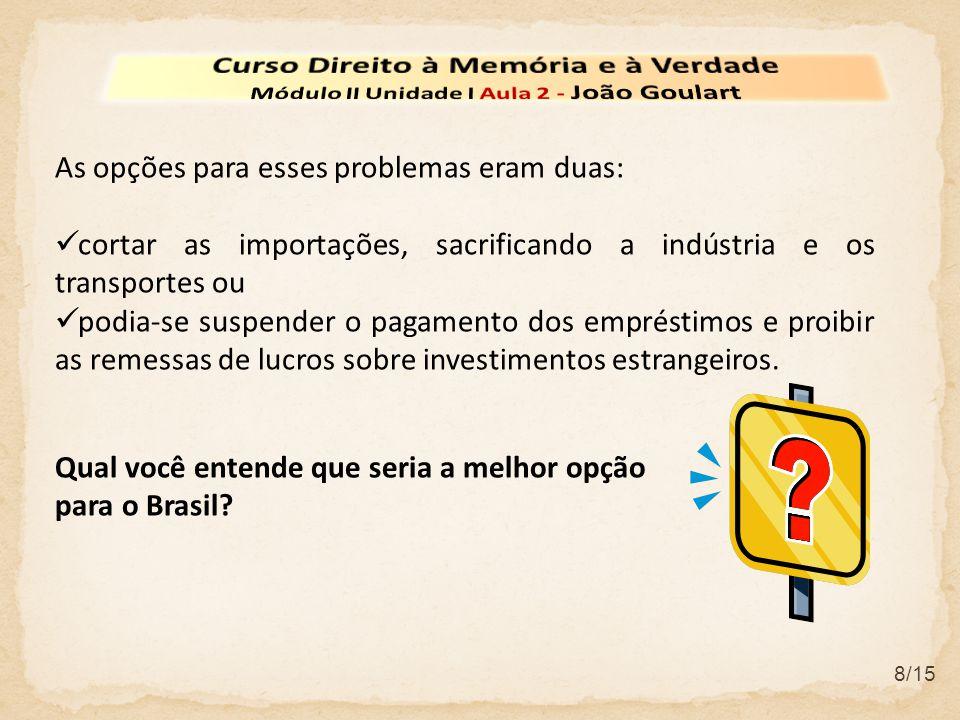 9/15 Qualquer medida espantaria os investidores e credores estrangeiros, colocando o Brasil nas listas negras do sistema financeiro internacional.