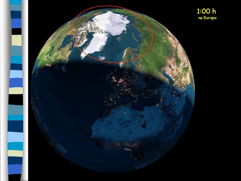 Filipa Vicente Meia-Noite na Europa O sol da meia-noite está agora sobre a parte norte da Escandinávia. (círculo amarelo)