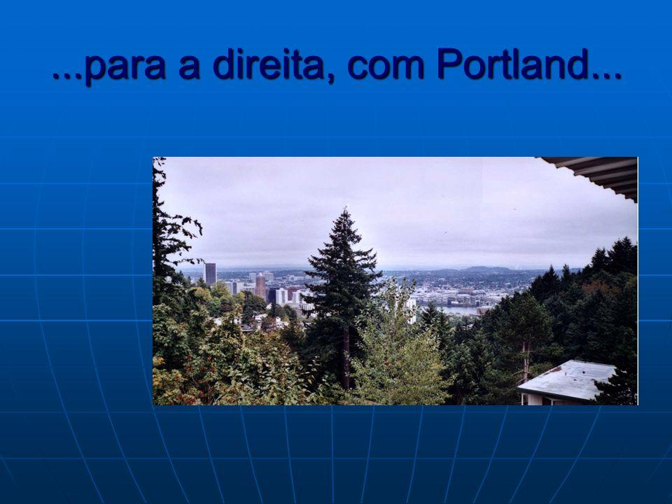 ...para a direita, com Portland...