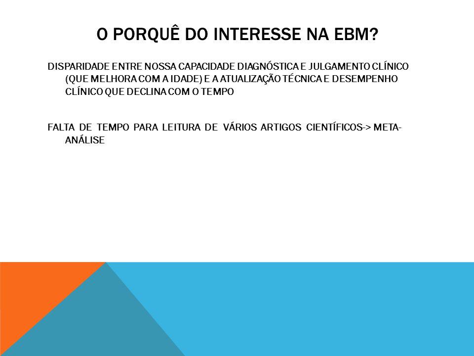 O PORQUÊ DO INTERESSE NA EBM.