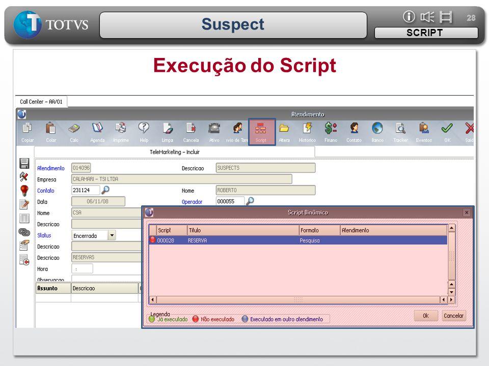 28 Suspect Execução do Script SCRIPT