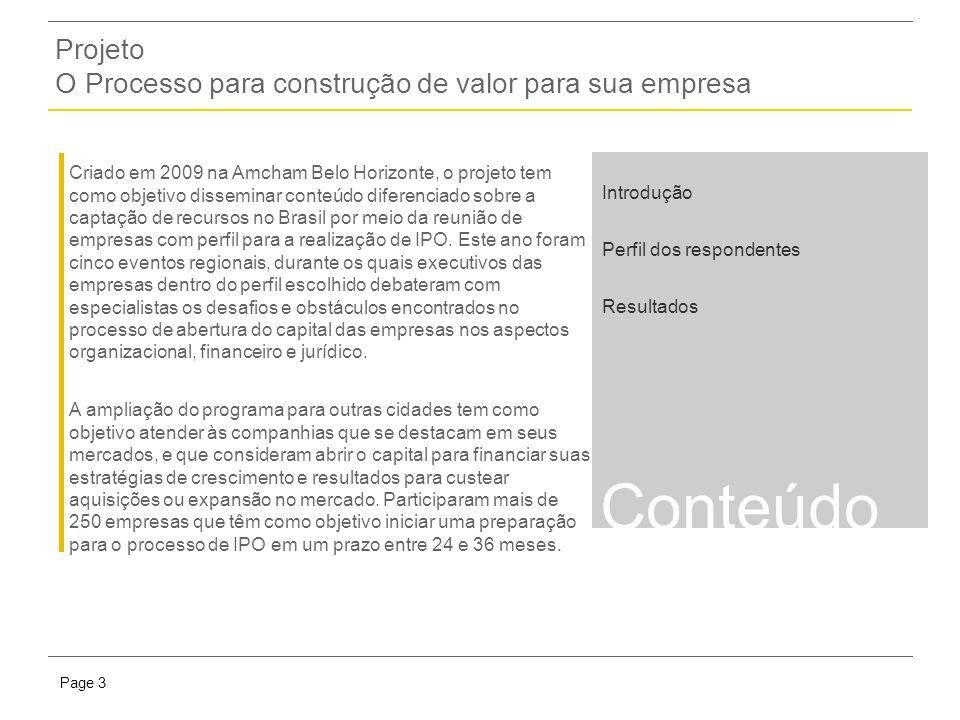 Presentation titlePage 3 Criado em 2009 na Amcham Belo Horizonte, o projeto tem como objetivo disseminar conteúdo diferenciado sobre a captação de recursos no Brasil por meio da reunião de empresas com perfil para a realização de IPO.