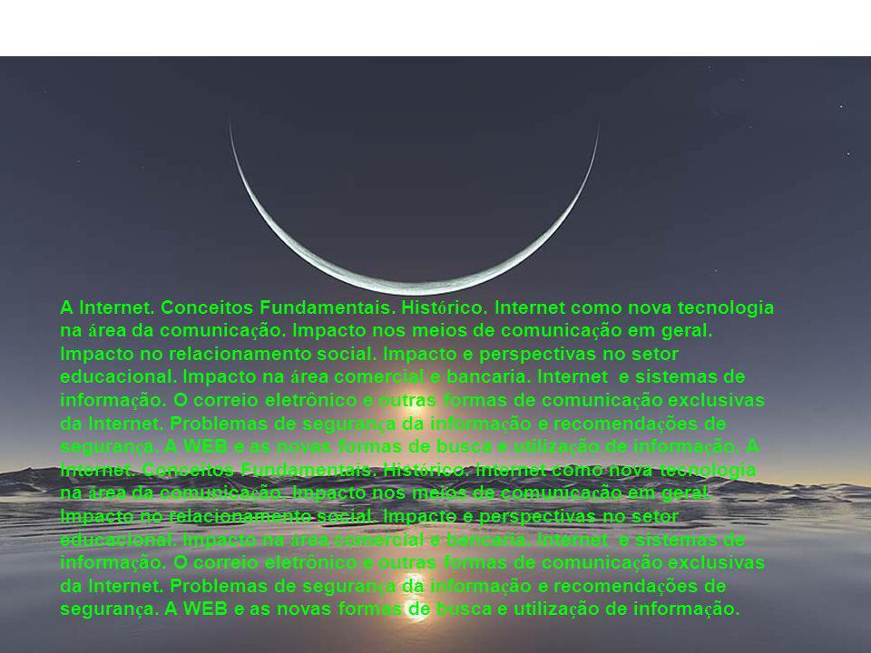 Conceitos Fundamentais •Software •Hardware •Inform á tica •Rede de Computadores •Internet •E-mail •Download •Upload •Hard Disk (Disco Rigido) •Diret ó rio, pasta, arquivo • Salvar, gravar (Save) • Home Page •Website, site •Editor de texto