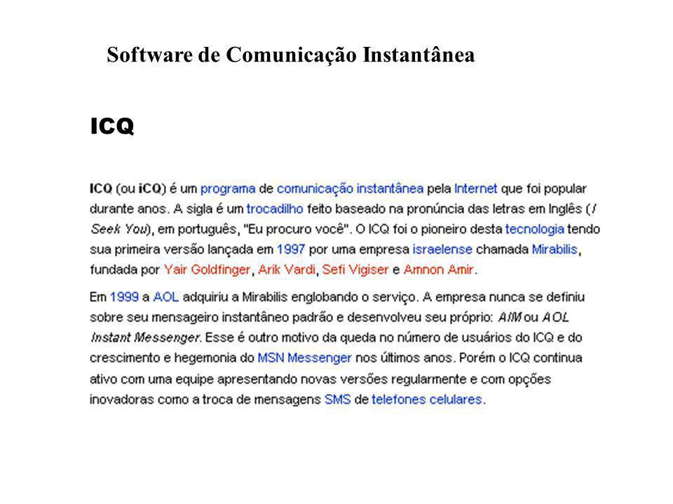 Software de Comunicação Instantânea ICQ