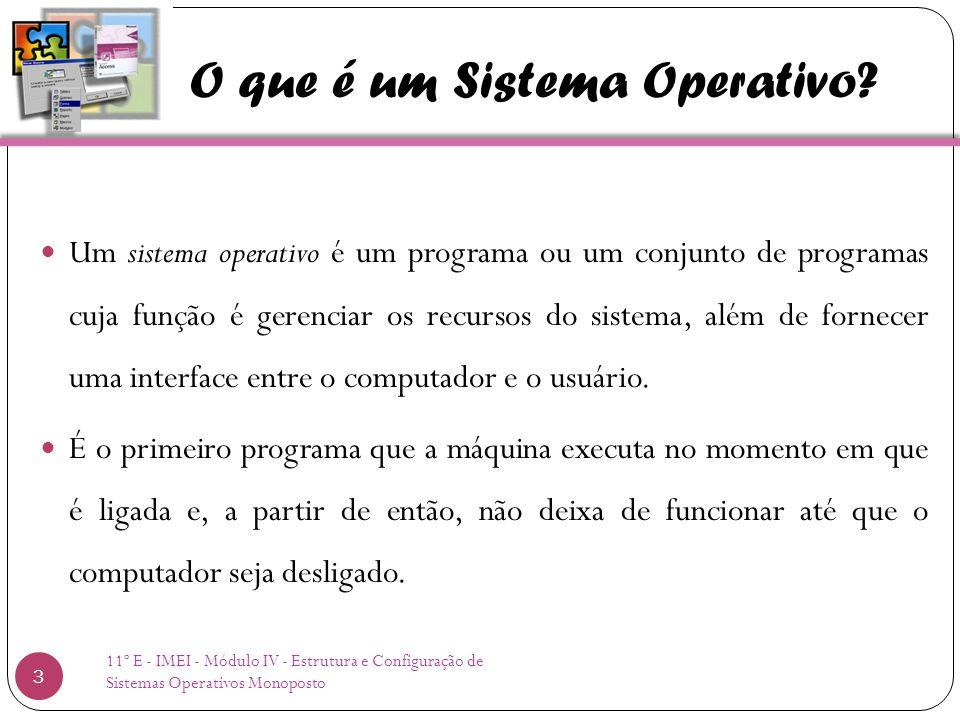 O que é um Sistema Operativo.