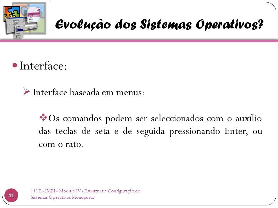 Evolução dos Sistemas Operativos.