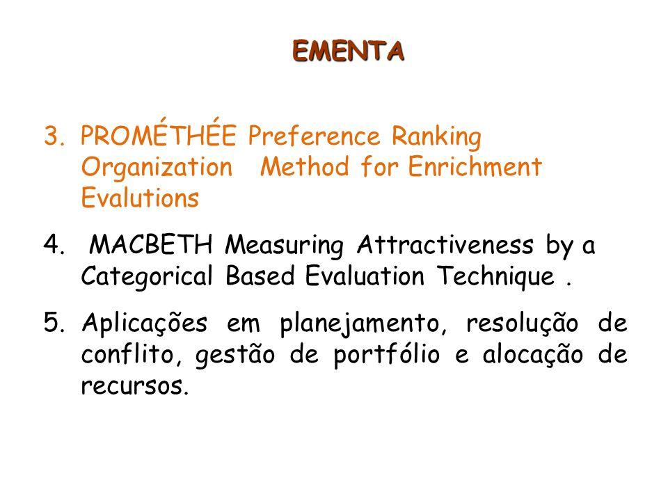 14 Passo 1: Determinação de Funções de Preferência P j Preço Conforto Potência p = 4000 q = 1000 PROMETHEE I Passo 2: Determinação de Funções de Preferência P j