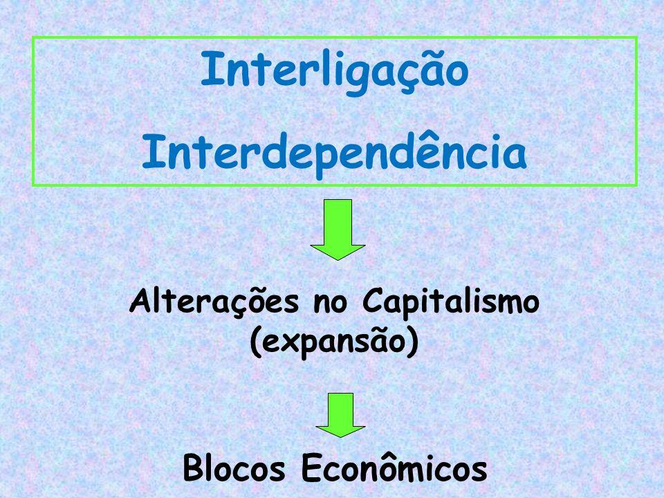 Interligação Interdependência Alterações no Capitalismo (expansão) Blocos Econômicos