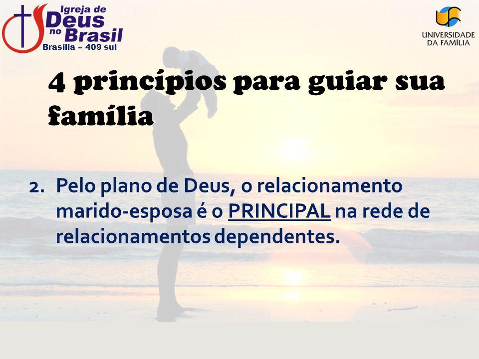 4 princípios para guiar sua família 2.Pelo plano de Deus, o relacionamento marido-esposa é o PRINCIPAL na rede de relacionamentos dependentes. Brasíli
