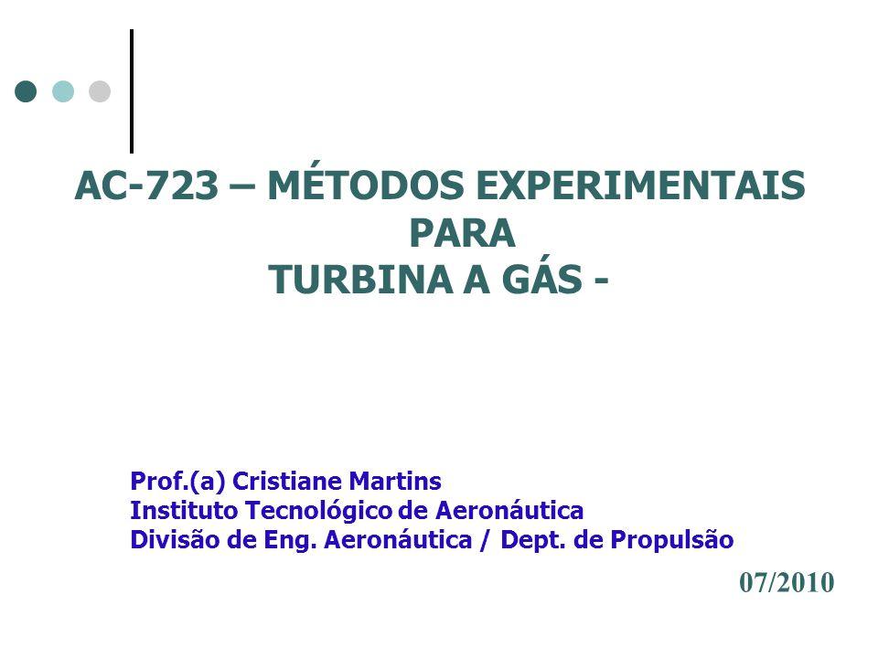 Experimento A bancada de ensaio de turbina a gás instalada no Laboratório Prof.