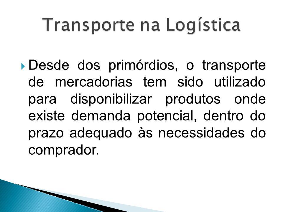  Desde dos primórdios, o transporte de mercadorias tem sido utilizado para disponibilizar produtos onde existe demanda potencial, dentro do prazo ade