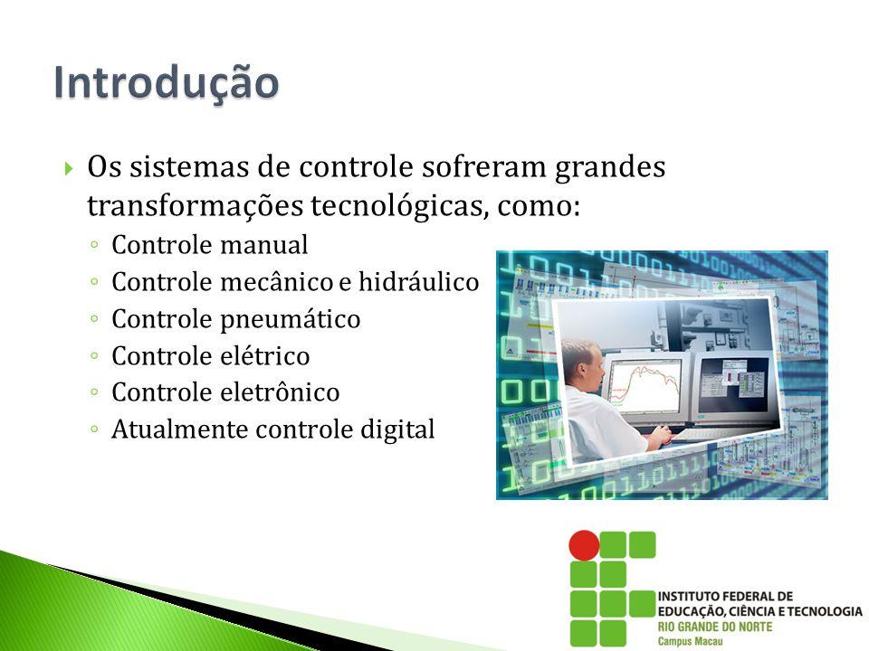  Os sistemas de controle sofreram grandes transformações tecnológicas, como: ◦ Controle manual ◦ Controle mecânico e hidráulico ◦ Controle pneumático