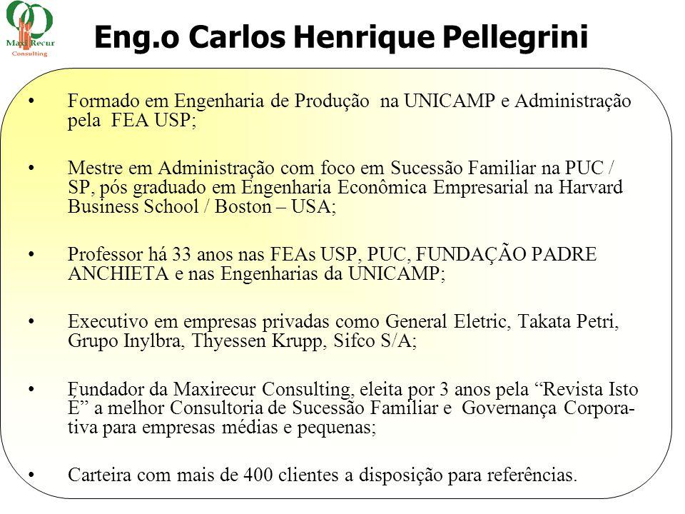 •Formado em Engenharia de Produção na UNICAMP e Administração pela FEA USP; •Mestre em Administração com foco em Sucessão Familiar na PUC / SP, pós gr