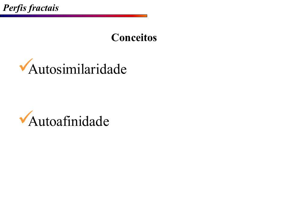 Perfis fractais Semivariogramas típicos H  Persistência