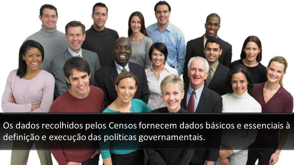 Os dados recolhidos pelos Censos fornecem dados básicos e essenciais à definição e execução das políticas governamentais.