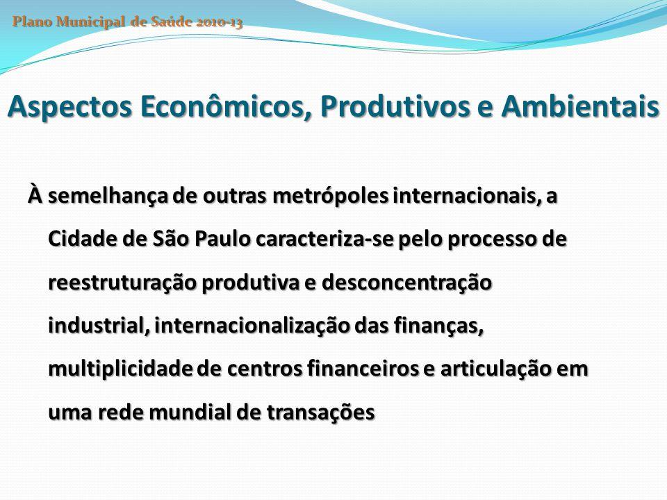 À semelhança de outras metrópoles internacionais, a Cidade de São Paulo caracteriza-se pelo processo de reestruturação produtiva e desconcentração ind