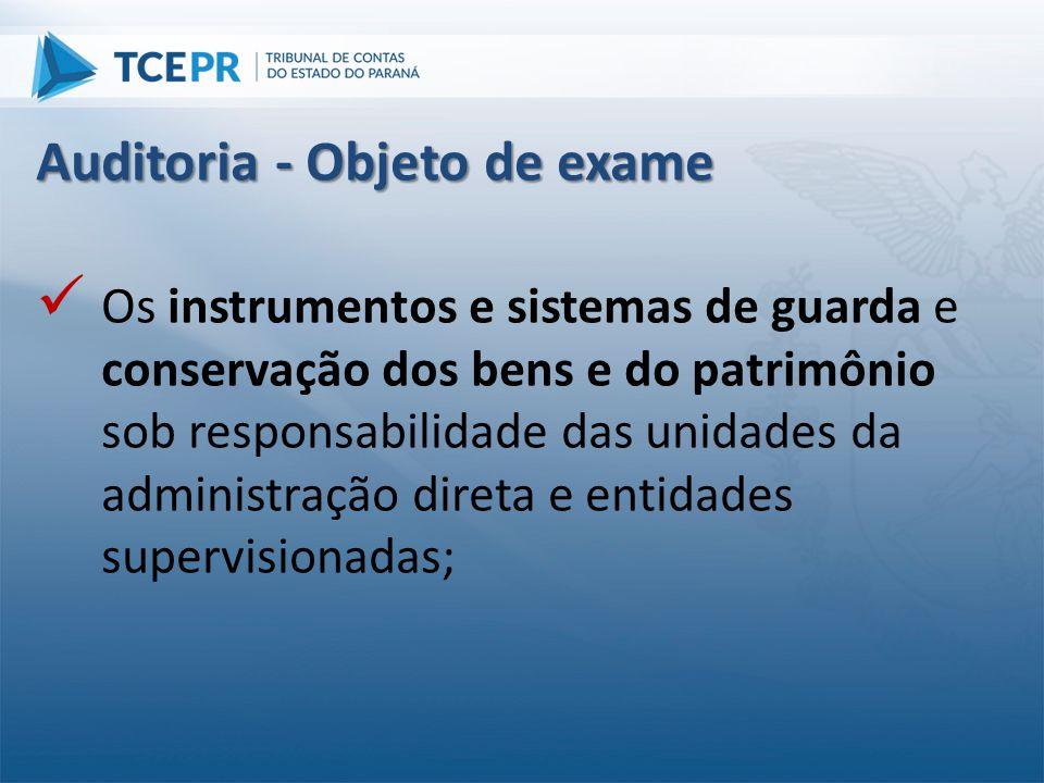  Os instrumentos e sistemas de guarda e conservação dos bens e do patrimônio sob responsabilidade das unidades da administração direta e entidades su