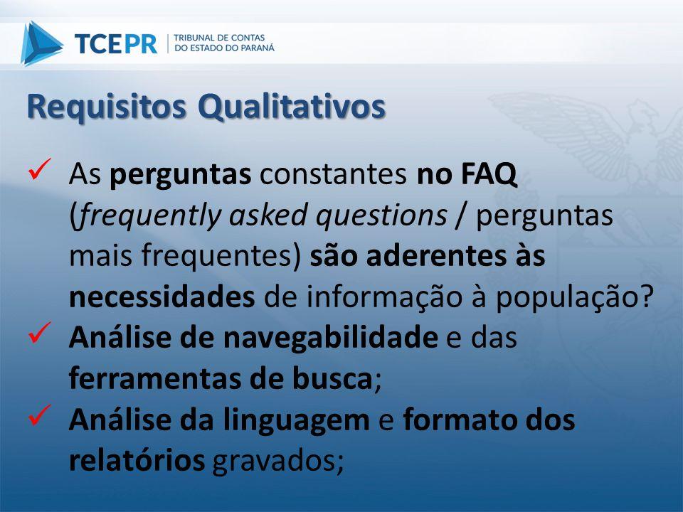  As perguntas constantes no FAQ (frequently asked questions / perguntas mais frequentes) são aderentes às necessidades de informação à população?  A