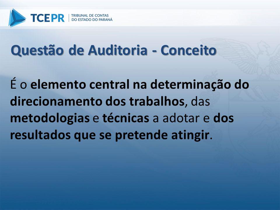 É o elemento central na determinação do direcionamento dos trabalhos, das metodologias e técnicas a adotar e dos resultados que se pretende atingir. Q