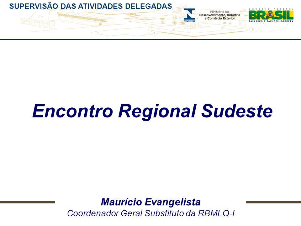 SUPERVISÃO DAS ATIVIDADES DELEGADAS Maurício Evangelista Coordenador Geral Substituto da RBMLQ-I Encontro Regional Sudeste