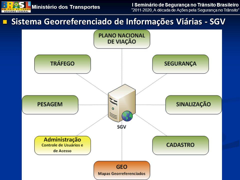Ministério dos Transportes I Seminário de Segurança no Trânsito Brasileiro 2011-2020, A década de Ações pela Segurança no Trânsito  Sistema Georreferenciado de Informações Viárias - SGV