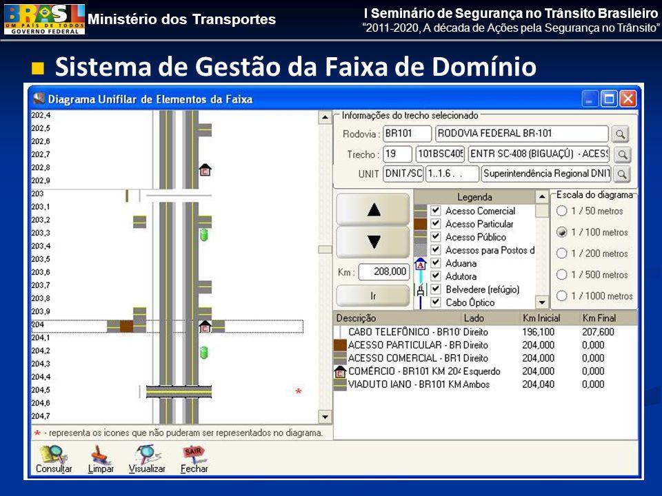 Ministério dos Transportes I Seminário de Segurança no Trânsito Brasileiro 2011-2020, A década de Ações pela Segurança no Trânsito   Sistema de Gestão da Faixa de Domínio