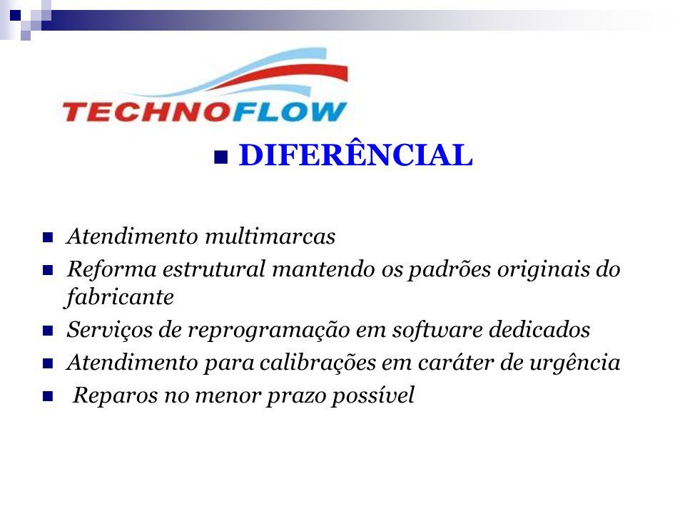  DIFERÊNCIAL  Atendimento multimarcas  Reforma estrutural mantendo os padrões originais do fabricante  Serviços de reprogramação em software dedic
