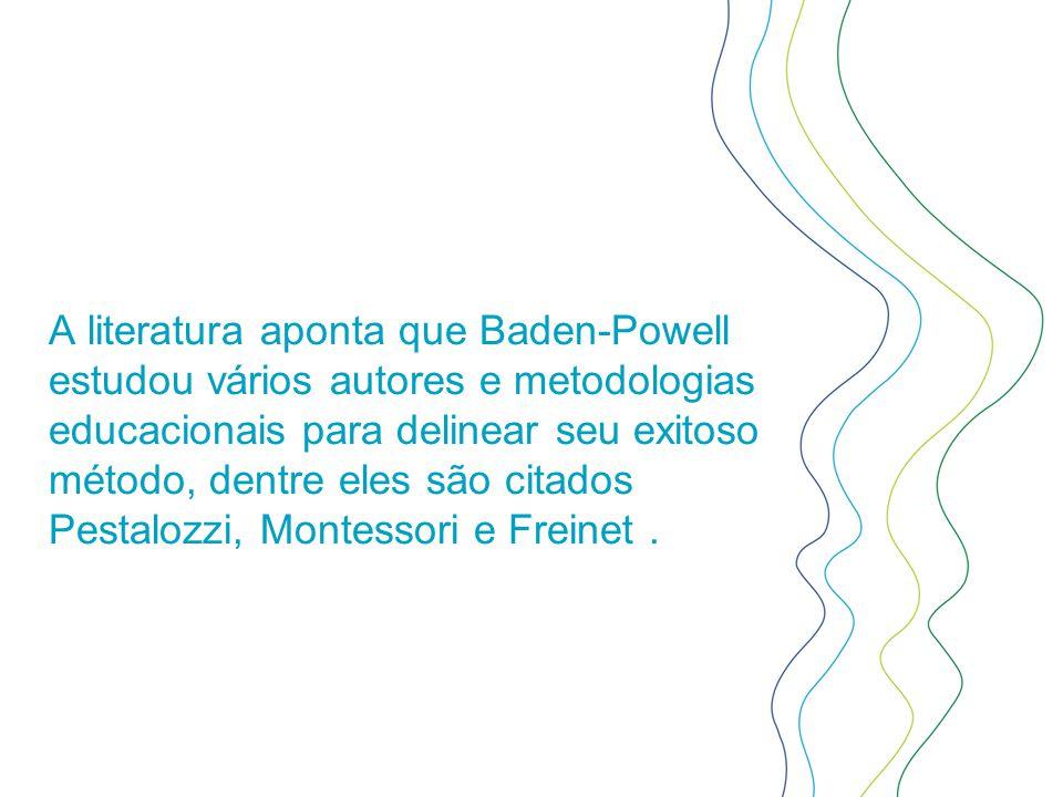 A literatura aponta que Baden-Powell estudou vários autores e metodologias educacionais para delinear seu exitoso método, dentre eles são citados Pest