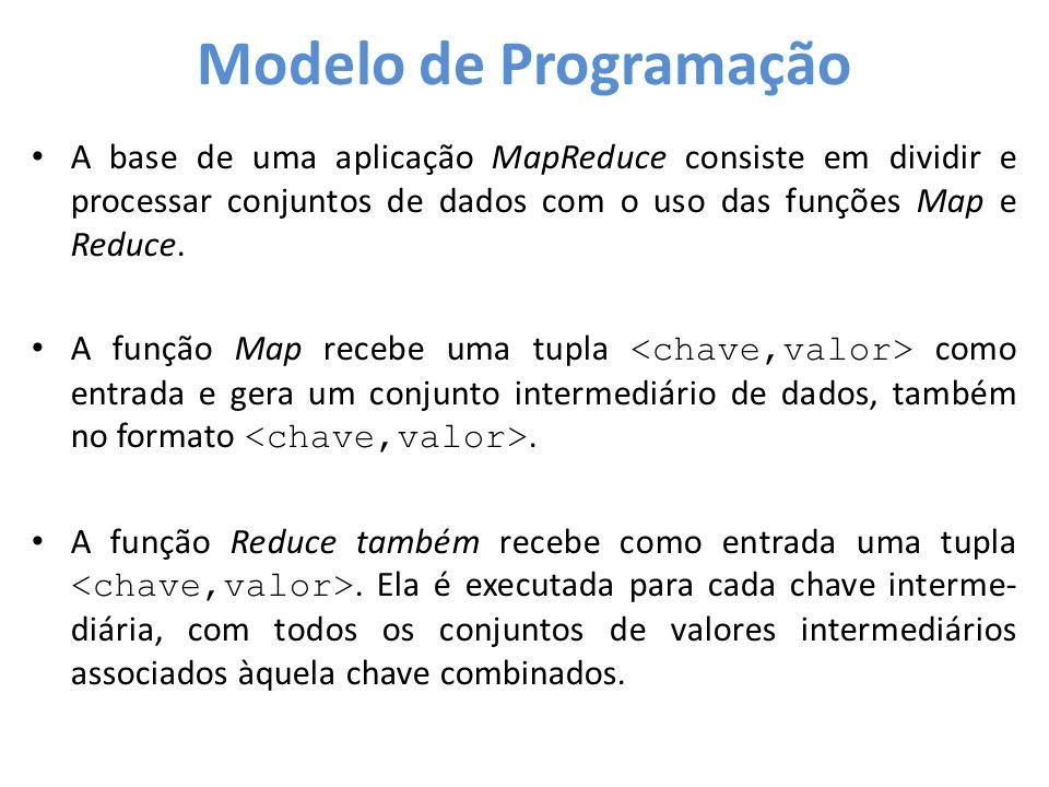 • A base de uma aplicação MapReduce consiste em dividir e processar conjuntos de dados com o uso das funções Map e Reduce. • A função Map recebe uma t