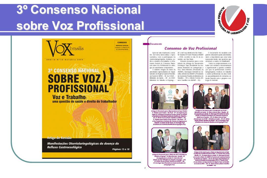 3º Consenso Nacional sobre Voz Profissional