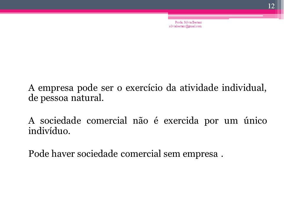 Profa. Silvia Bertani silviabertani@gmail.com 11 Empresa  objeto de direito
