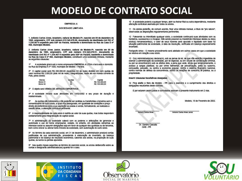 MODELO DE CONTRATO SOCIAL