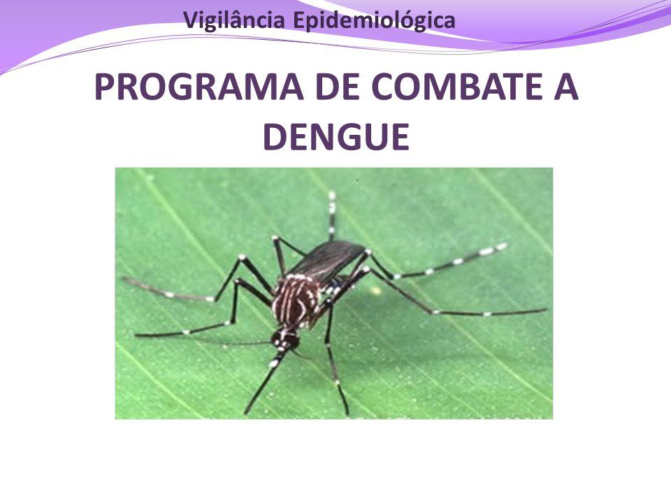 PROGRAMA DE COMBATE A DENGUE Vigilância Epidemiológica