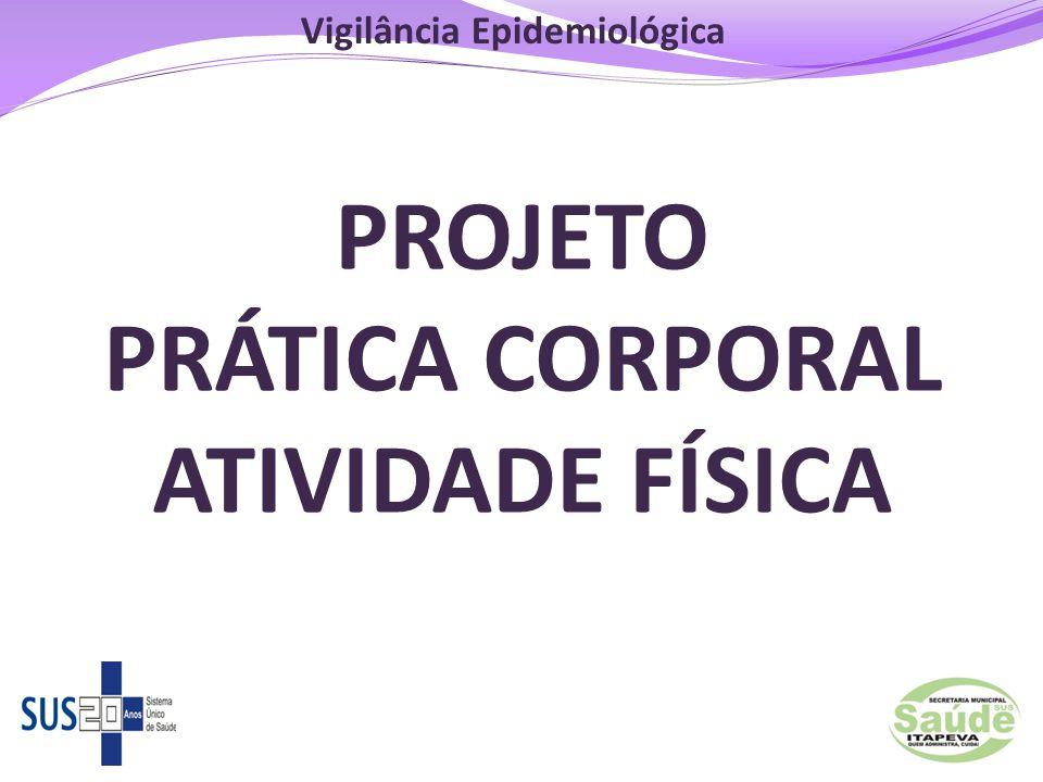 126 PROJETO PRÁTICA CORPORAL ATIVIDADE FÍSICA Vigilância Epidemiológica