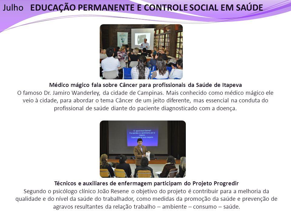Técnicos e auxiliares de enfermagem participam do Projeto Progredir Segundo o psicólogo clínico João Resene o objetivo do projeto é contribuir para a
