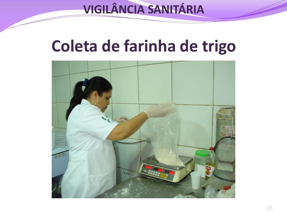 Coleta de farinha de trigo 25 VIGILÂNCIA SANITÁRIA
