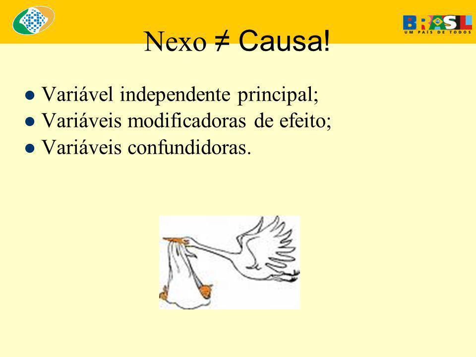 Nexo ≠ Causa.