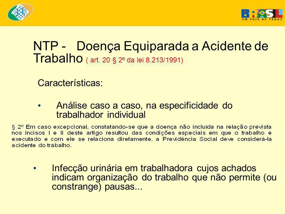 NTP - Doença Equiparada a Acidente de Trabalho ( art.