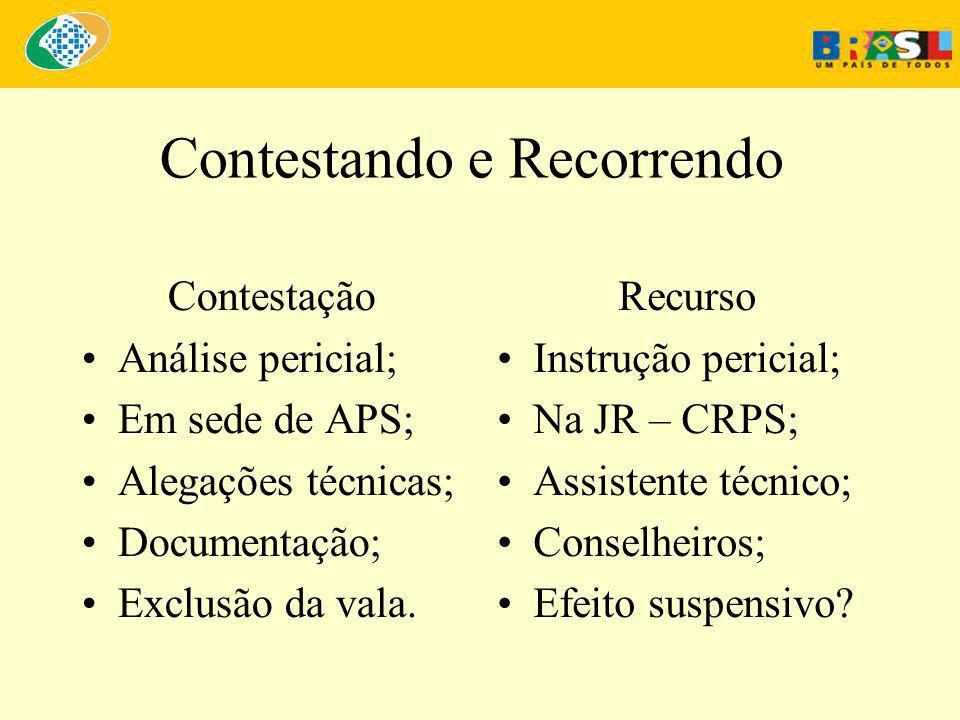 Contestando e Recorrendo Contestação •Análise pericial; •Em sede de APS; •Alegações técnicas; •Documentação; •Exclusão da vala.
