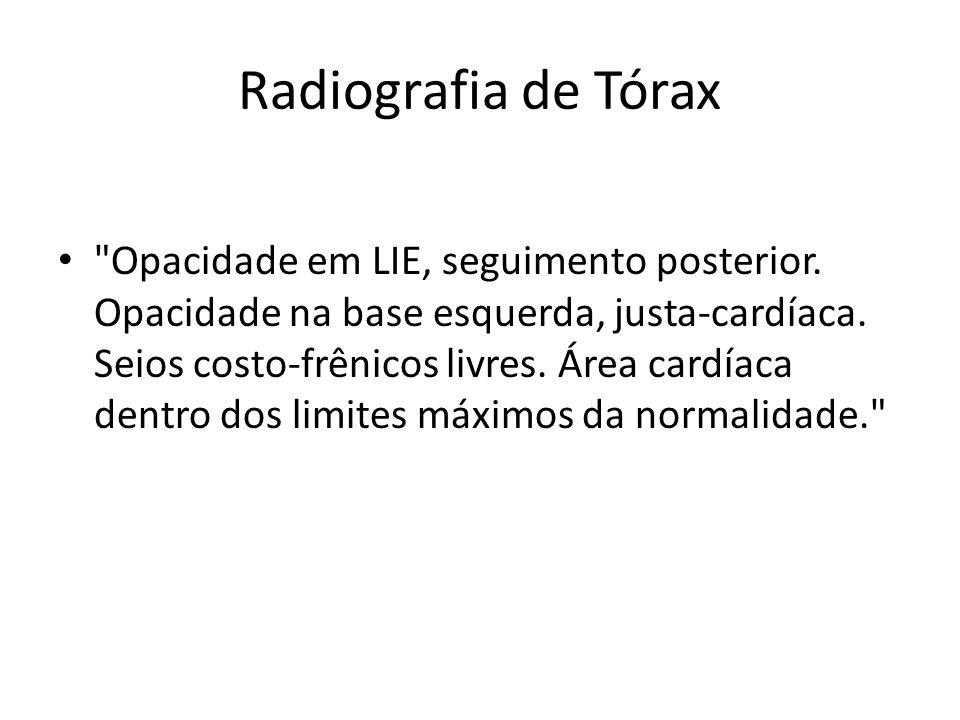 Radiografia de Tórax •