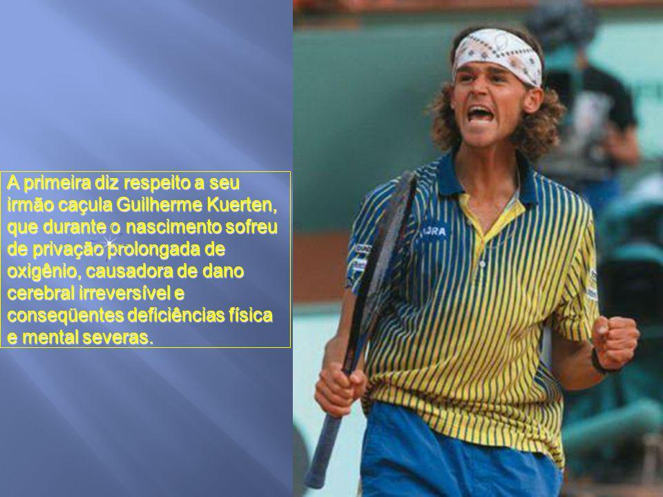 O maior jogador da história do tênis brasileiro, Gustavo Kuerten, teve o início de sua vida marcado por duas tragédias familiares.