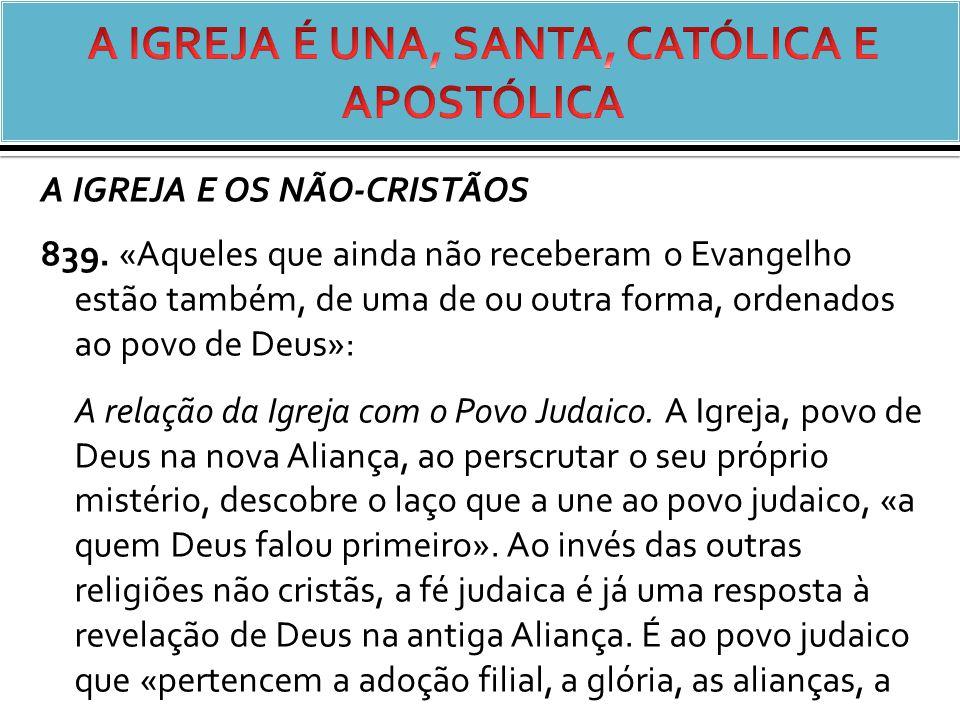 A IGREJA E OS NÃO-CRISTÃOS 839.