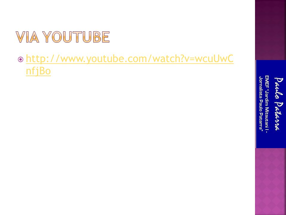  http://www.youtube.com/watch?v=wcuUwC nfjBo http://www.youtube.com/watch?v=wcuUwC nfjBo