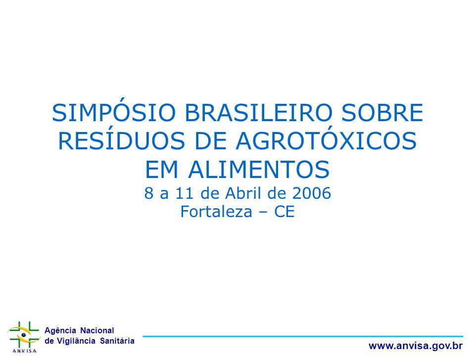 Agência Nacional de Vigilância Sanitária www.anvisa.gov.br SIMPÓSIO BRASILEIRO SOBRE RESÍDUOS DE AGROTÓXICOS EM ALIMENTOS 8 a 11 de Abril de 2006 Fort