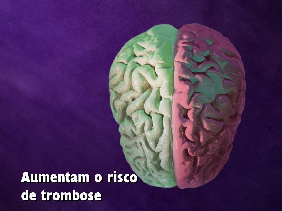 Aumentam o risco de trombose