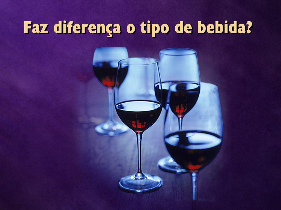 Faz diferença o tipo de bebida?